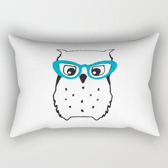 Cute Owl Glasses Rectangular Pillow