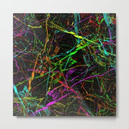 Rainbow Marble Metal Print
