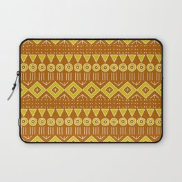 Mudcloth Style 2 in Burnt Orange and Yellow Laptop Sleeve