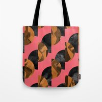 black and gold Tote Bags featuring gold,black by Georgiana Paraschiv
