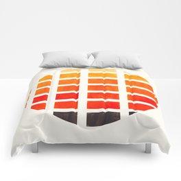 Watercolor Colorful Orange Minimalist Mid Century Modern Square Matrix Geometric Pattern Round Circl Comforters