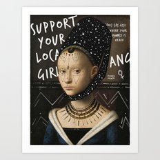 .Portrait Series | Girl Gang. Art Print