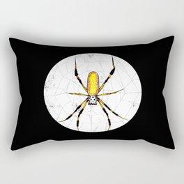 Golden Silk Orb Weaver | Negative | BUGSPOTTING SERIES Rectangular Pillow