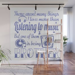 Listening to Music Brother Wall Mural