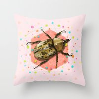 insect Throw Pillows featuring INSECT II by dogooder