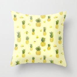 Pineapple Watercolors Throw Pillow