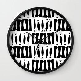 IBO FISH BLACK AND WHITE Wall Clock
