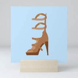 SATC Carrie Bradshaw Tan High Heels Mini Art Print