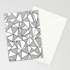Abstraction Lines Black on White Stationery Cards