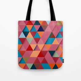 Colorfull abstract darker triangle pattern Tote Bag