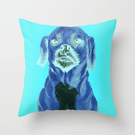 snaggle tooth Throw Pillow