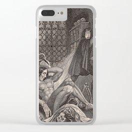 Frankenstein Mary Shelley Original Illustration Clear iPhone Case