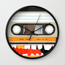 The cassette tape golden tooth Wall Clock
