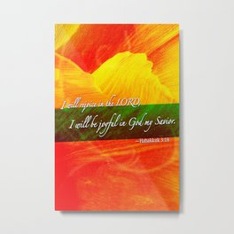 I Will be Joyful! Metal Print