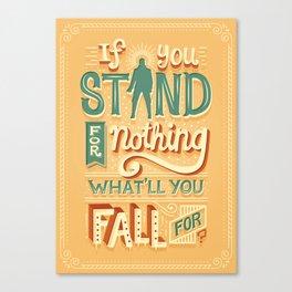 Make a stand Canvas Print
