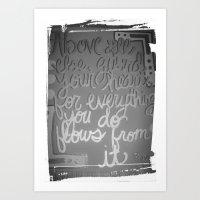 Guarded heart Art Print