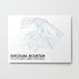Panorama, BC, Canada - Minimalist Trail Art Metal Print