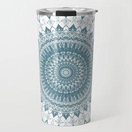 Boho Blue Mandala Travel Mug
