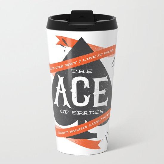 The Ace of Spades Metal Travel Mug