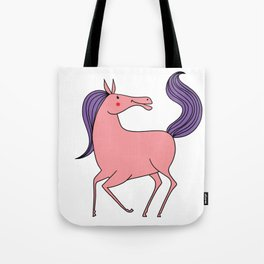 Happy horse Riding Pink Purple Girl Daughter Gift Tote Bag