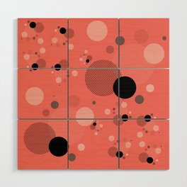 Coral Dots Wood Wall Art
