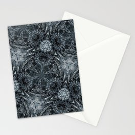 fractal hexagon Stationery Cards