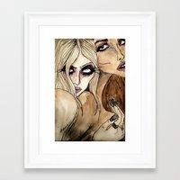 jenna kutcher Framed Art Prints featuring Taylor & Jenna by Lucas David