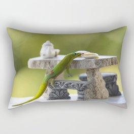 Breakfast with Geko Rectangular Pillow