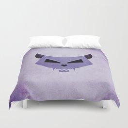 Purple Funny Evil Cat Skull Duvet Cover