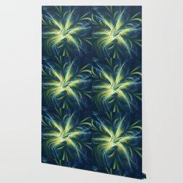 Fractal Flower Blue Palette Wallpaper