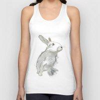rabbit Tank Tops featuring Rabbit by Melissa McGill