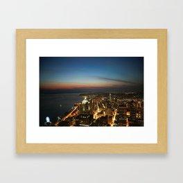 Amazing Night Photo Of Seattle  Framed Art Print