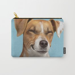 Smiling Dog (Jack Russell) Carry-All Pouch
