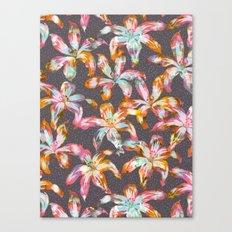 Aztec Sunrise Floral - Grey Canvas Print