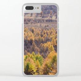 Autumn Color Clear iPhone Case