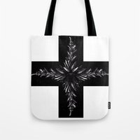 cross Tote Bags featuring cross by Кaterina Кalinich