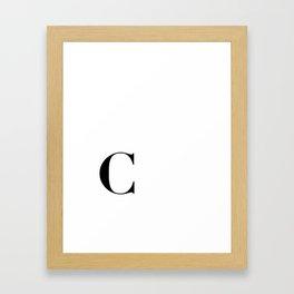 Initial C Framed Art Print