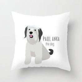 Paul Anka, the dog. Throw Pillow