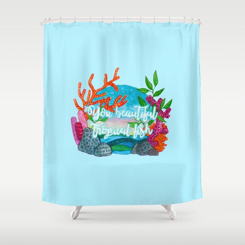 You Beautiful Tropical Fish Shower Curtain