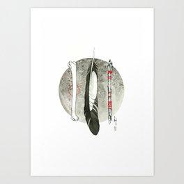 Earth, Air and Flesh Art Print
