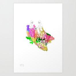 Brain Paint Art Print