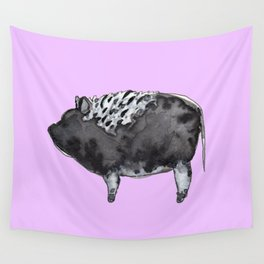BUGSY in purple Wall Tapestry