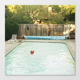 Pool Angel Canvas Print