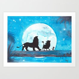 The Lion King Stencil Art Print