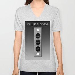 Failure Elevator Unisex V-Neck