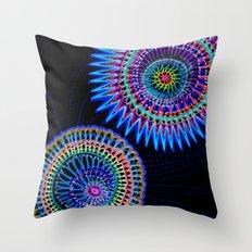 virus war color Throw Pillow