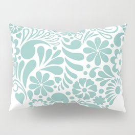 Heart shape maori koru flower abstract design Pillow Sham