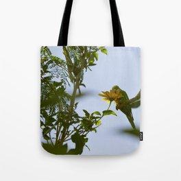 Birds from Pantanal Periquito-de-encontro-amarelo Tote Bag