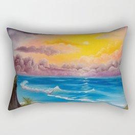 Beach Cove, Beautiful Beach, Colorful Beach, Beach Sunset, Colorful Sunset Rectangular Pillow