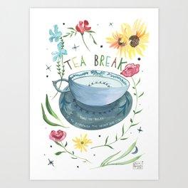 Tea For Me Art Print